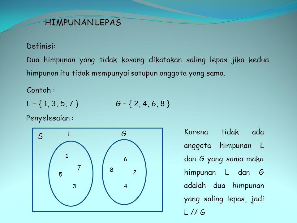 HIMPUNAN LEPAS Definisi: