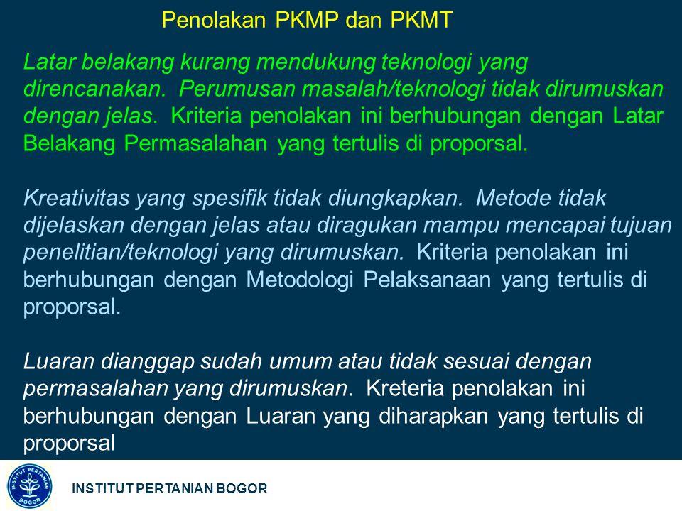 Penolakan PKMP dan PKMT