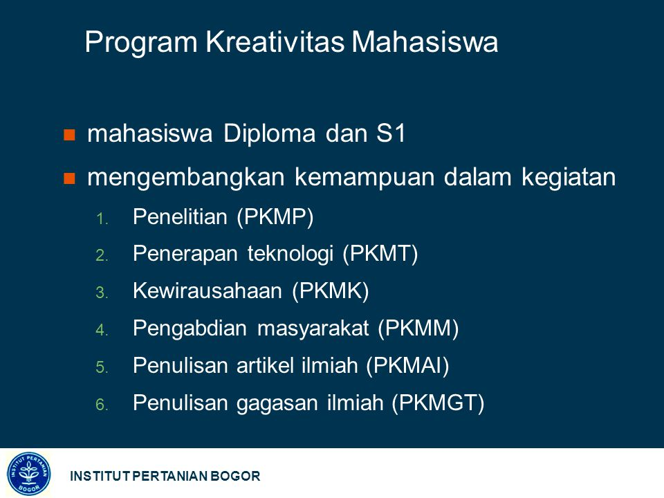 Program Kreativitas Mahasiswa