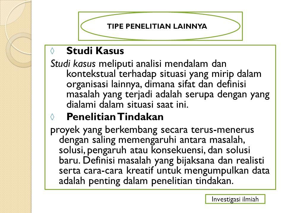 TIPE PENELITIAN LAINNYA