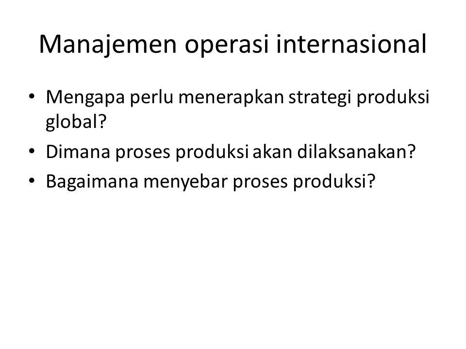 Manajemen operasi internasional