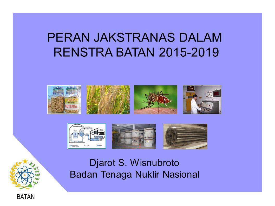 PERAN JAKSTRANAS DALAM RENSTRA BATAN 2015-2019