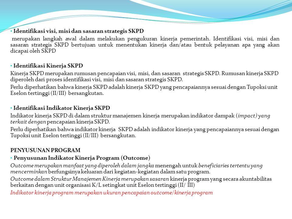 Identifikasi visi, misi dan sasaran strategis SKPD