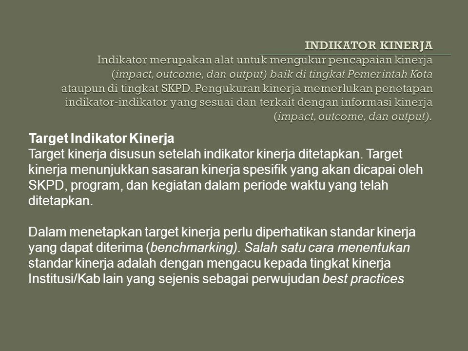 Target Indikator Kinerja