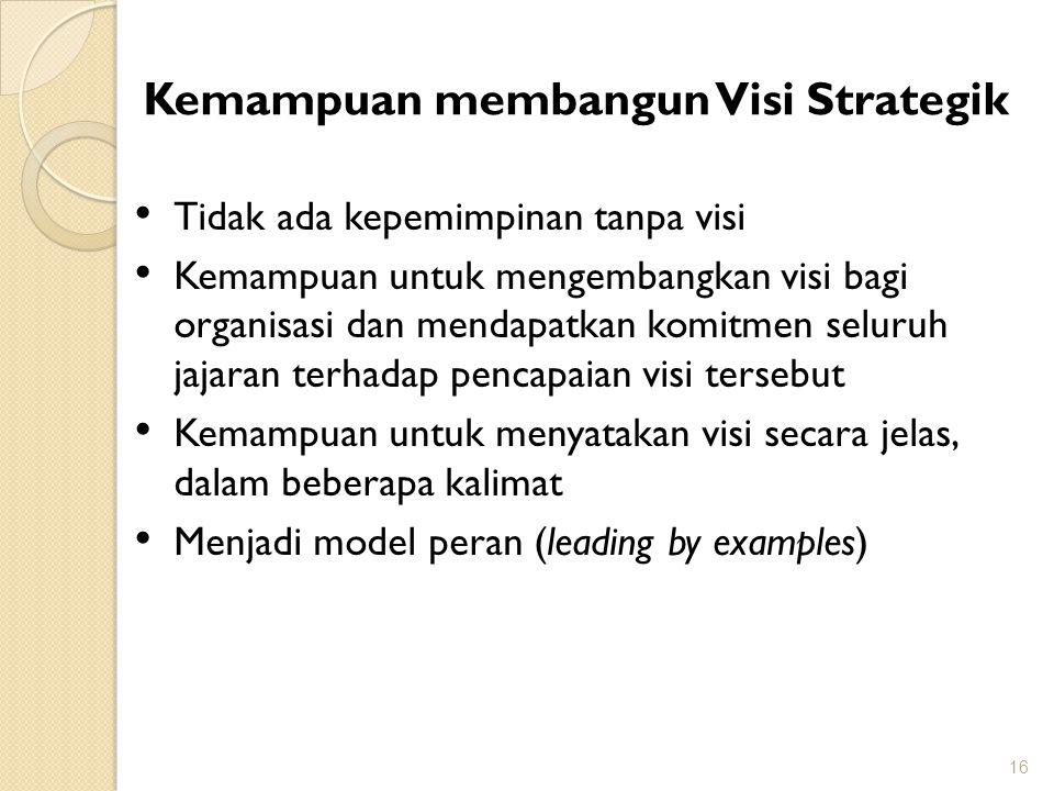 Kemampuan membangun Visi Strategik