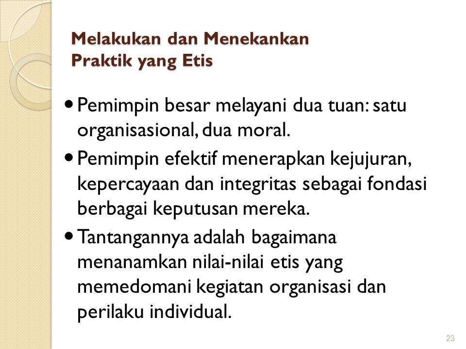 Melakukan dan Menekankan Praktik yang Etis