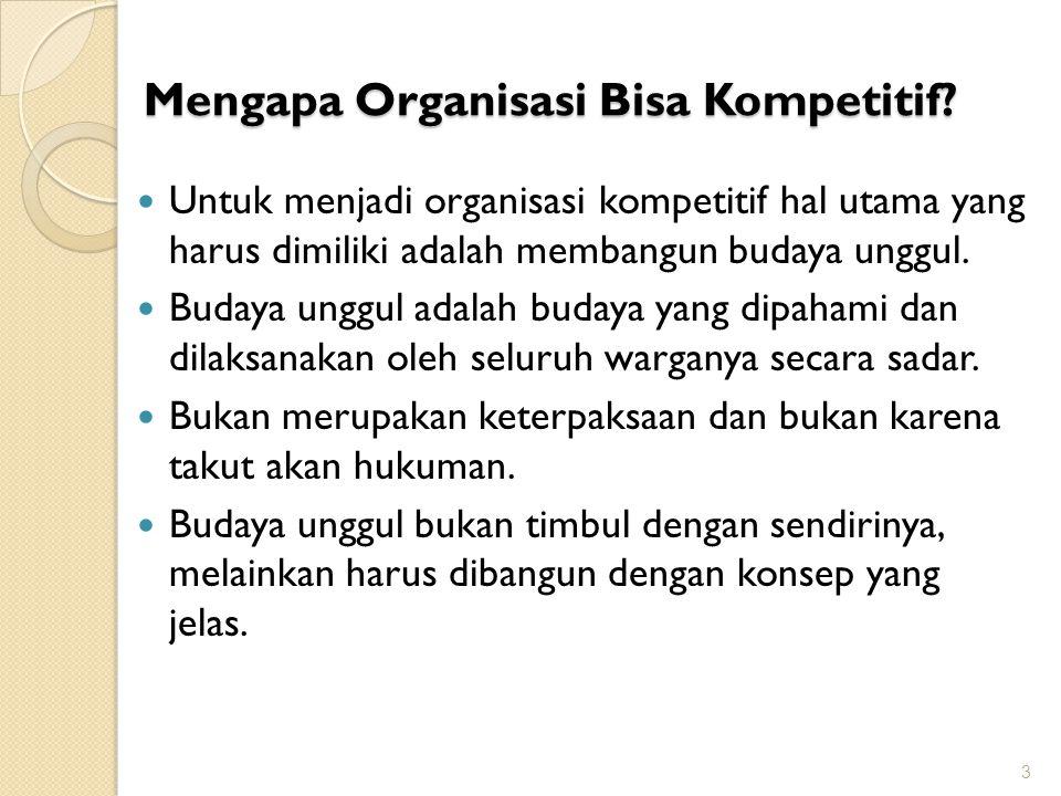Mengapa Organisasi Bisa Kompetitif