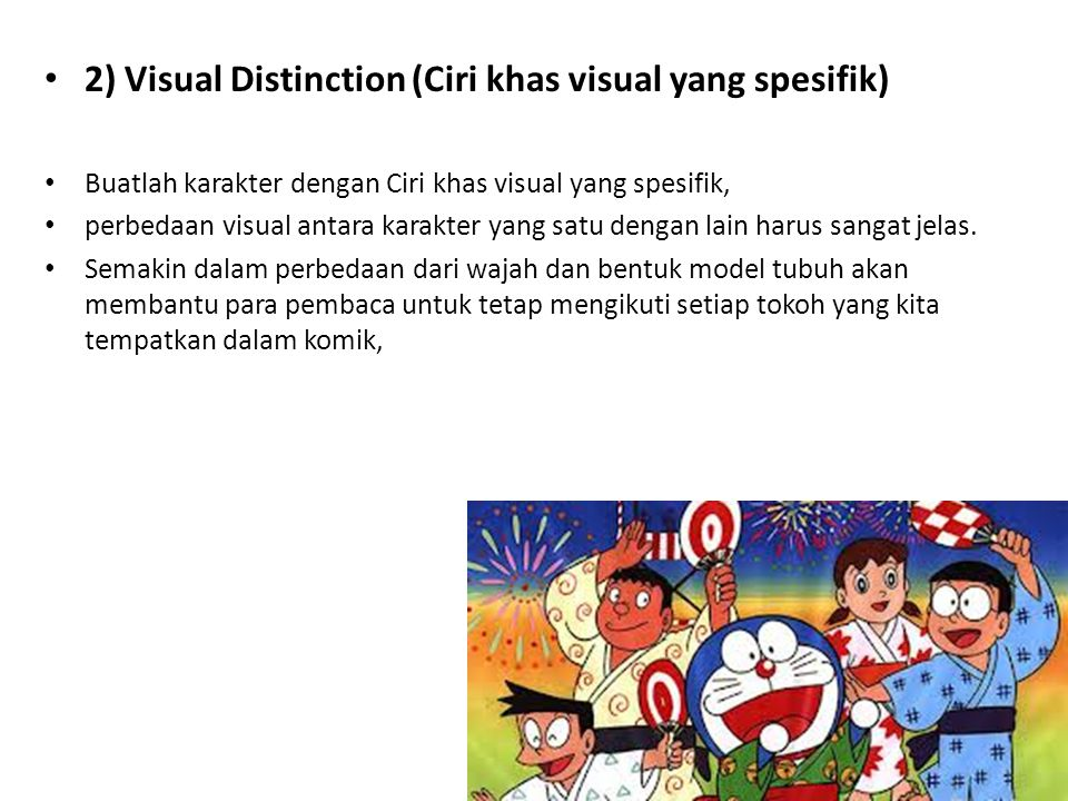2) Visual Distinction (Ciri khas visual yang spesifik)