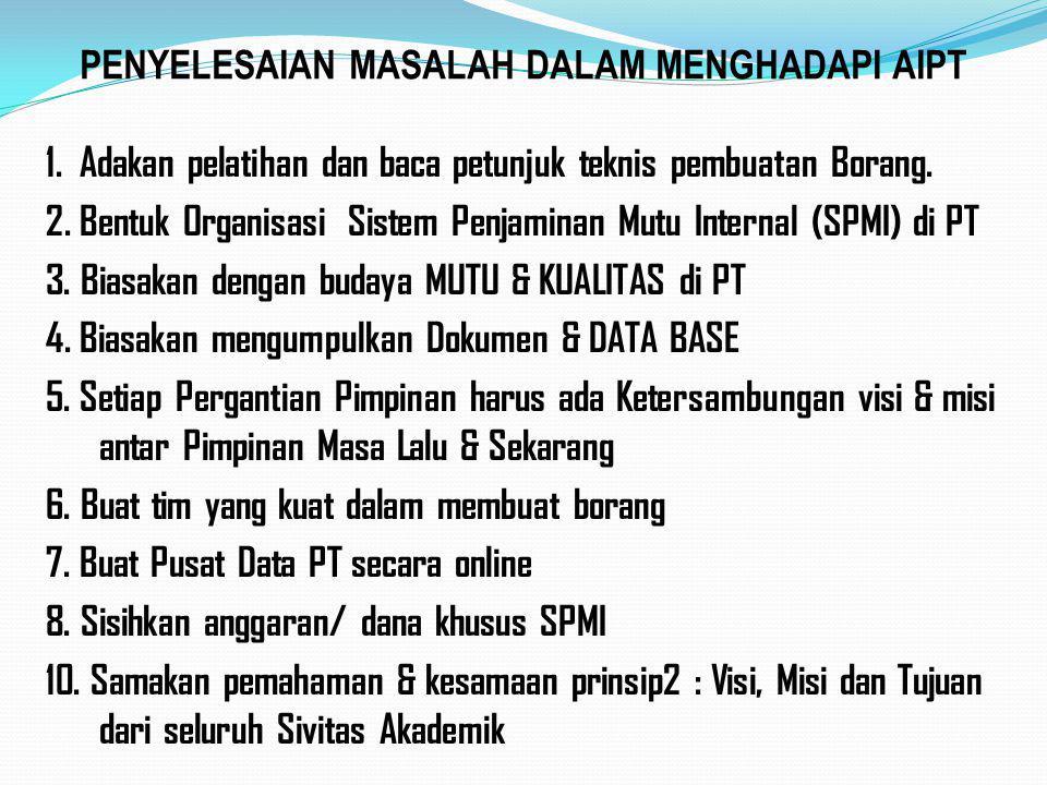 PENYELESAIAN MASALAH DALAM MENGHADAPI AIPT