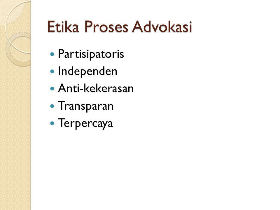 Etika Proses Advokasi Partisipatoris Independen Anti-kekerasan