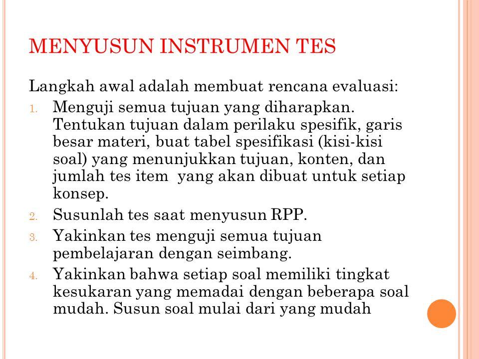 MENYUSUN INSTRUMEN TES