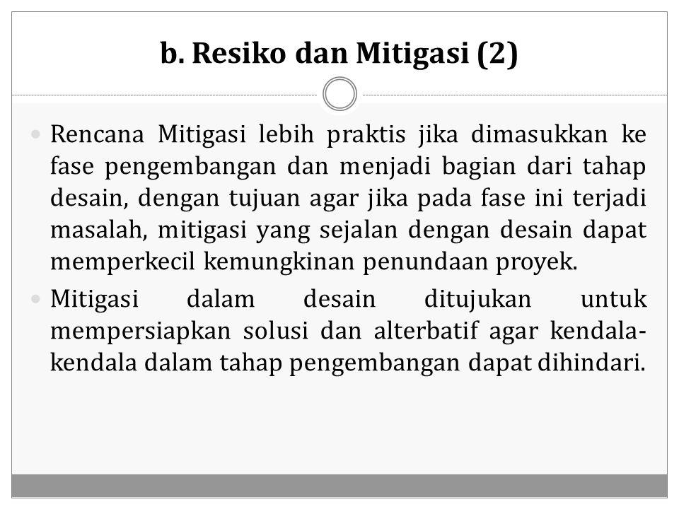b. Resiko dan Mitigasi (2)