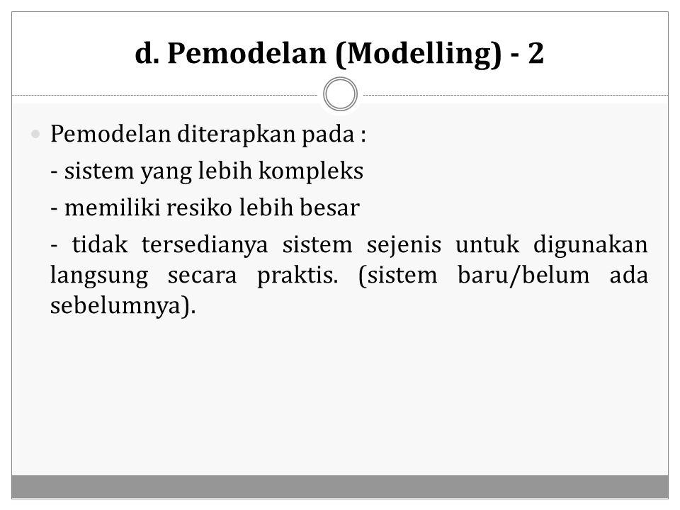 d. Pemodelan (Modelling) - 2