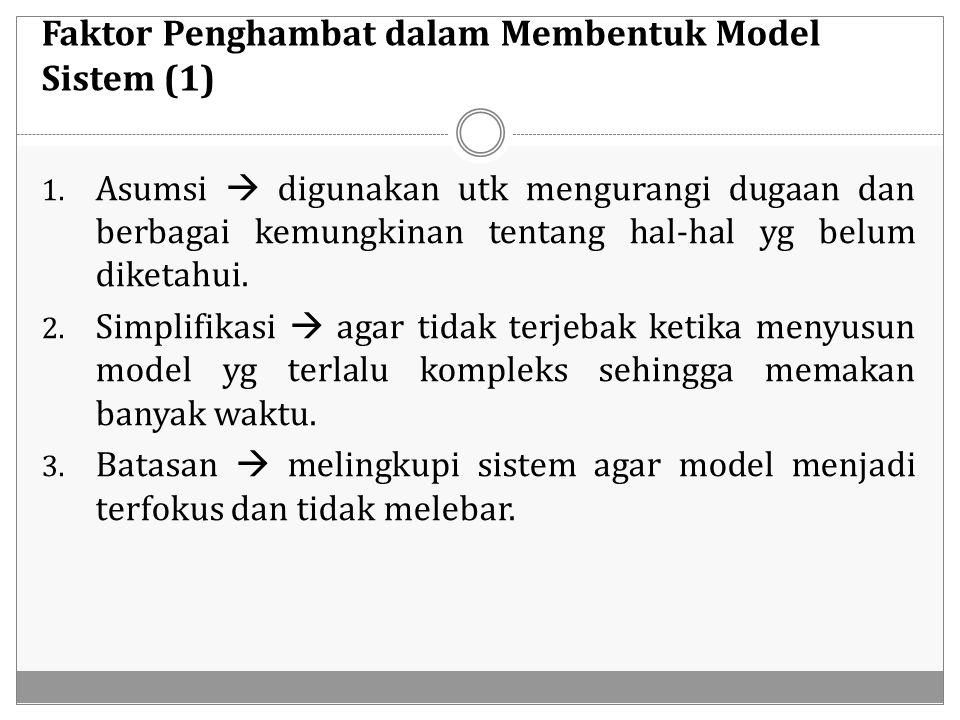 Faktor Penghambat dalam Membentuk Model Sistem (1)