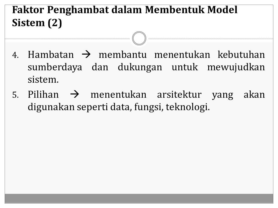 Faktor Penghambat dalam Membentuk Model Sistem (2)