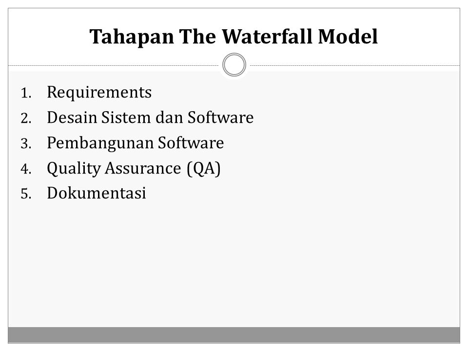 Tahapan The Waterfall Model
