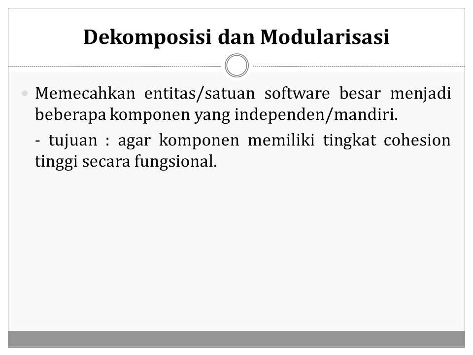 Dekomposisi dan Modularisasi