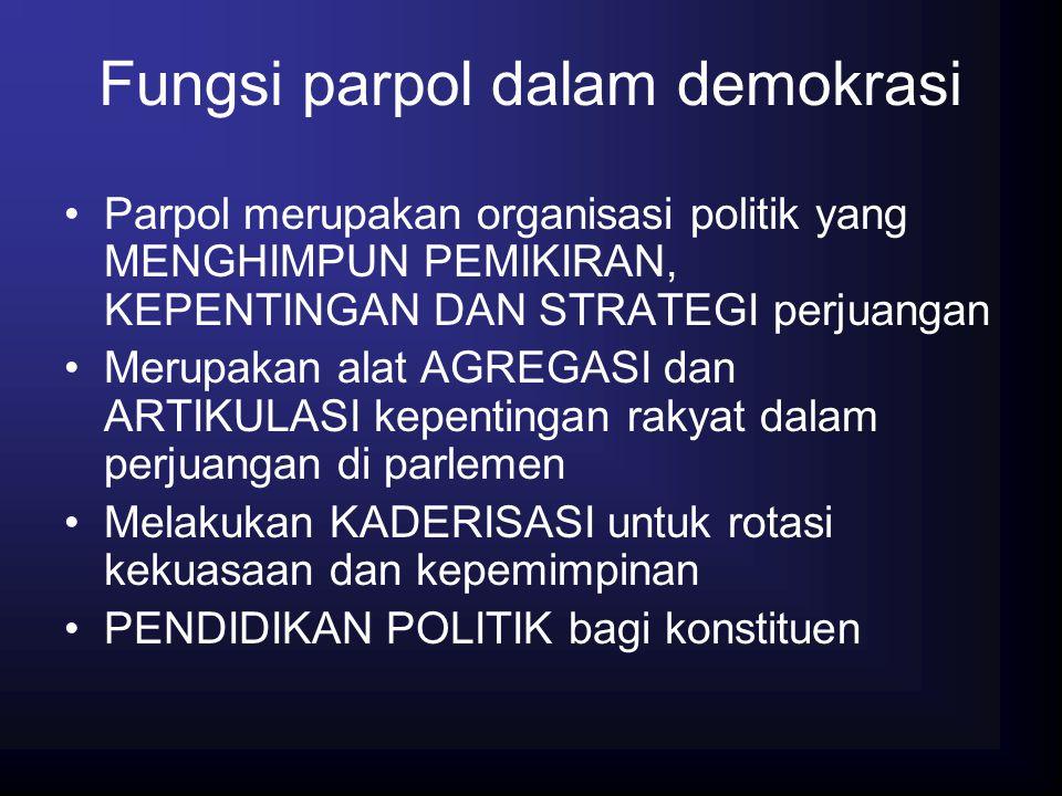 Fungsi parpol dalam demokrasi