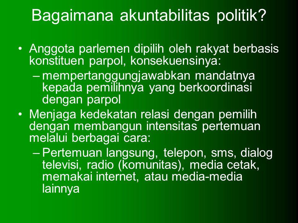 Bagaimana akuntabilitas politik