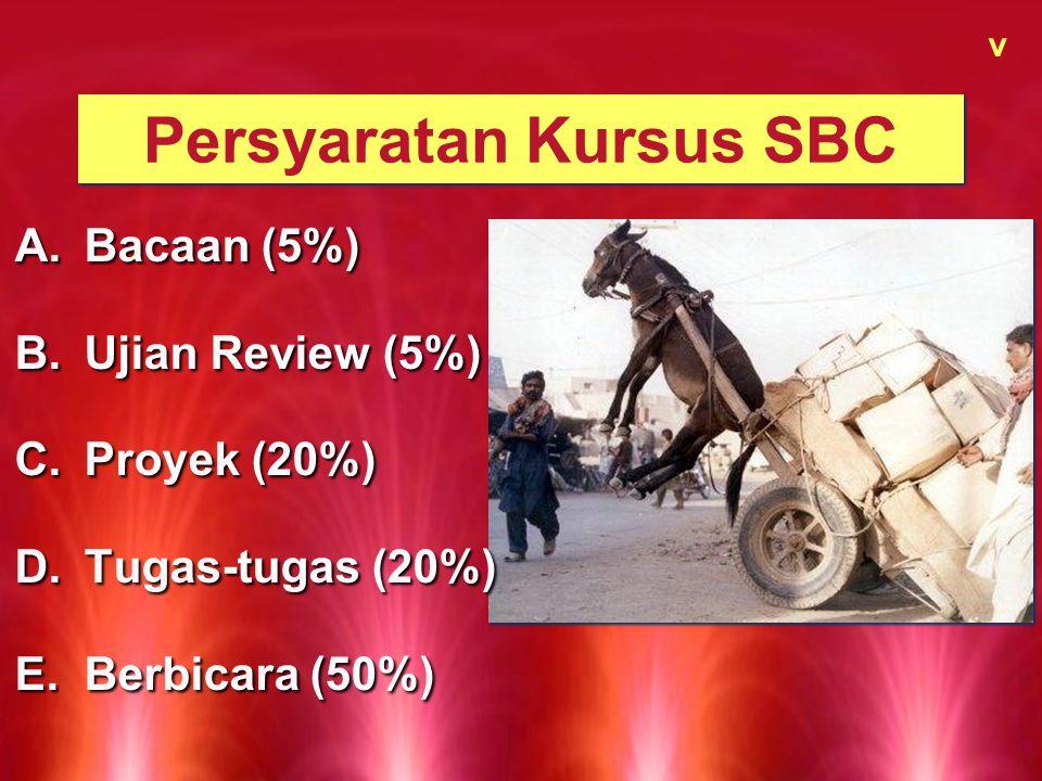 Persyaratan Kursus SBC