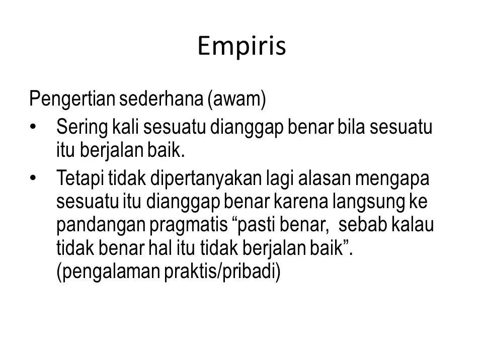 Empiris Pengertian sederhana (awam)