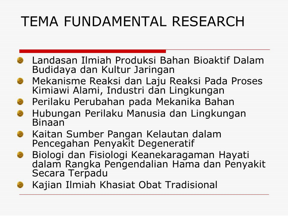 TEMA FUNDAMENTAL RESEARCH