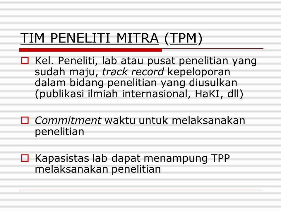 TIM PENELITI MITRA (TPM)
