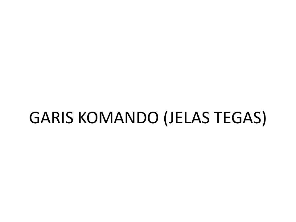 GARIS KOMANDO (JELAS TEGAS)
