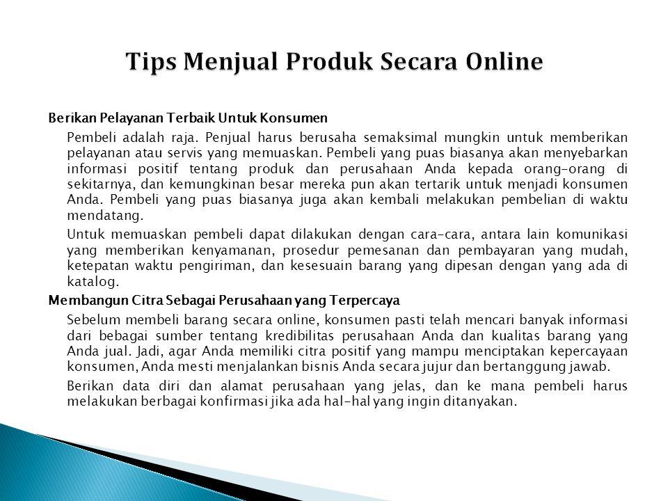 Tips Menjual Produk Secara Online