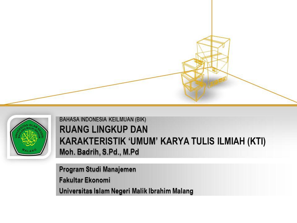 Program Studi Manajemen Fakultar Ekonomi