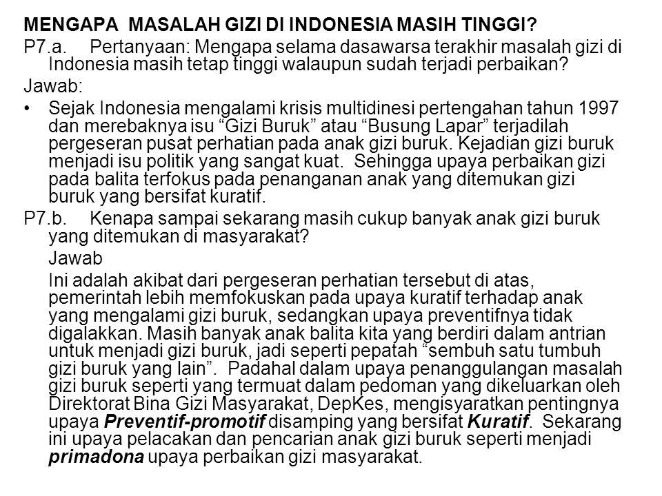 MENGAPA MASALAH GIZI DI INDONESIA MASIH TINGGI