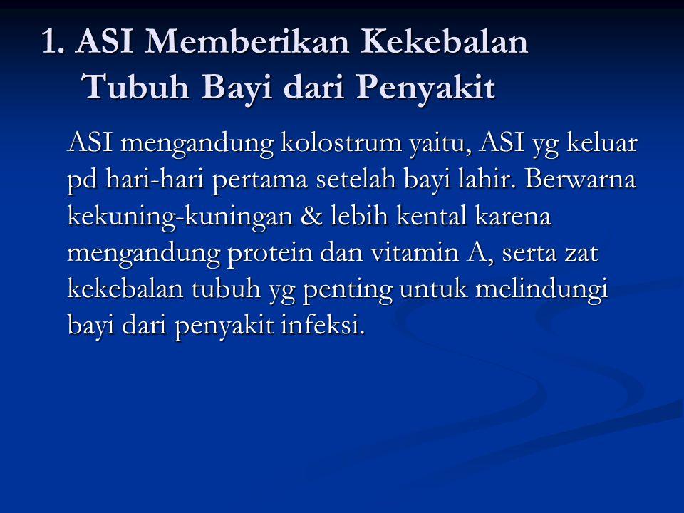 1. ASI Memberikan Kekebalan Tubuh Bayi dari Penyakit