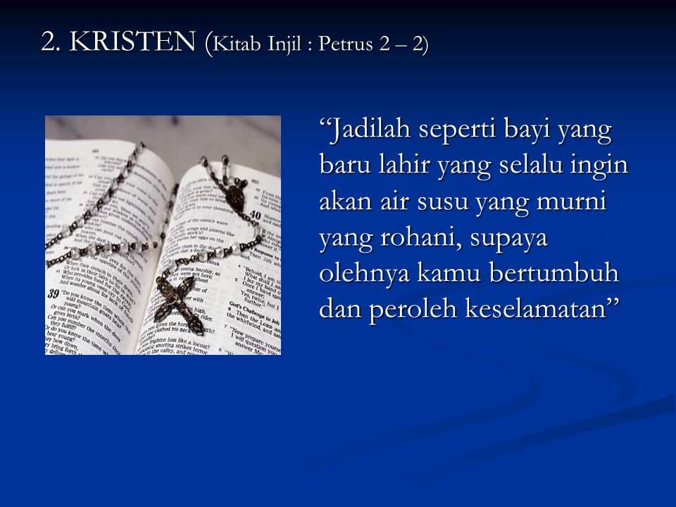 2. KRISTEN (Kitab Injil : Petrus 2 – 2)
