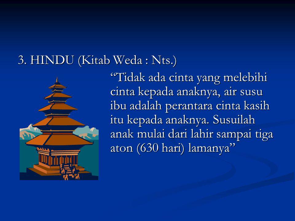 3. HINDU (Kitab Weda : Nts.)
