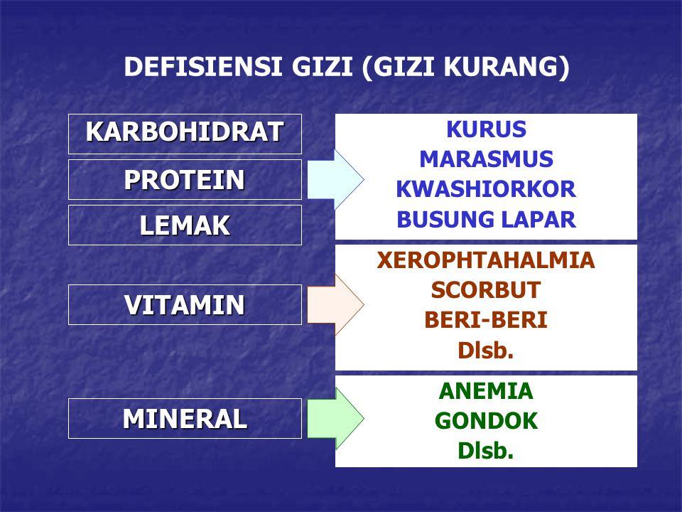 DEFISIENSI GIZI (GIZI KURANG)