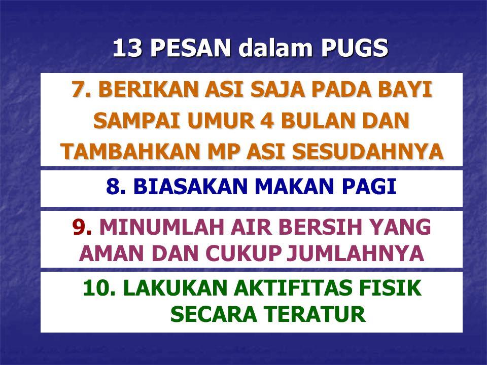 13 PESAN dalam PUGS 7. BERIKAN ASI SAJA PADA BAYI