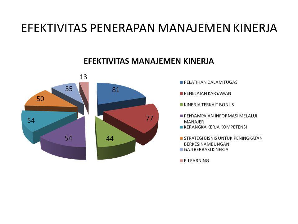 EFEKTIVITAS PENERAPAN MANAJEMEN KINERJA