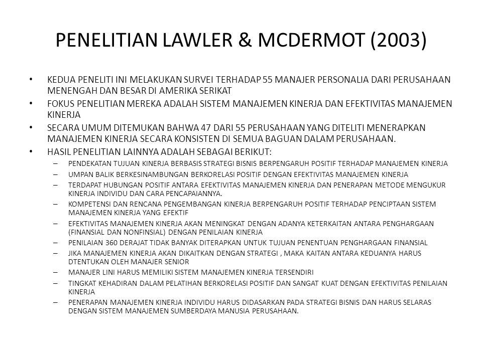 PENELITIAN LAWLER & MCDERMOT (2003)