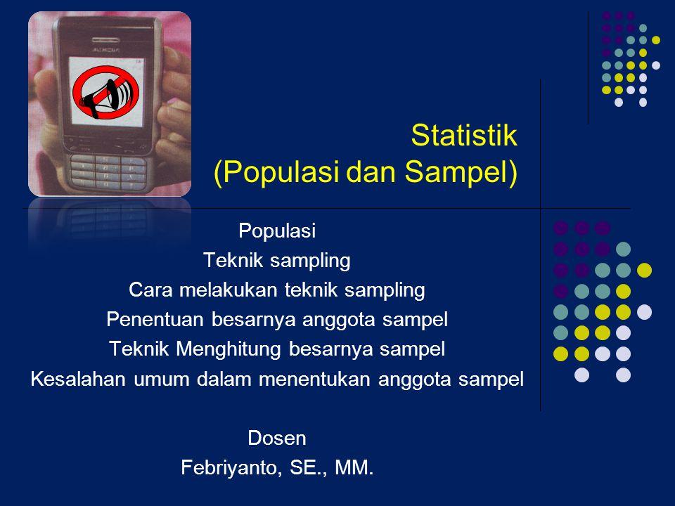 Statistik (Populasi dan Sampel)