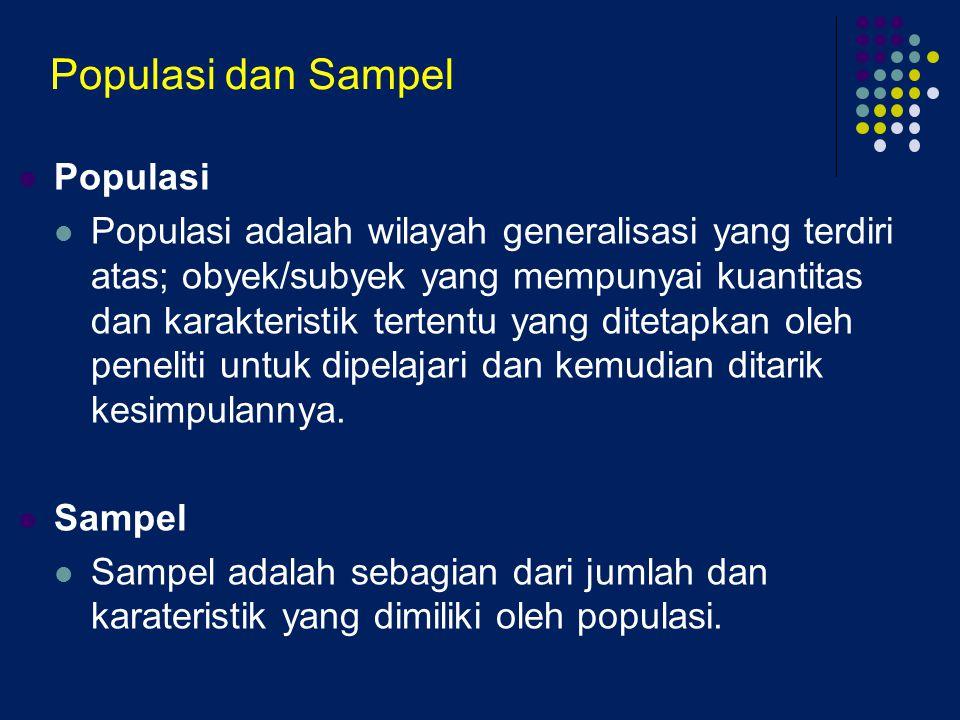Populasi dan Sampel Populasi