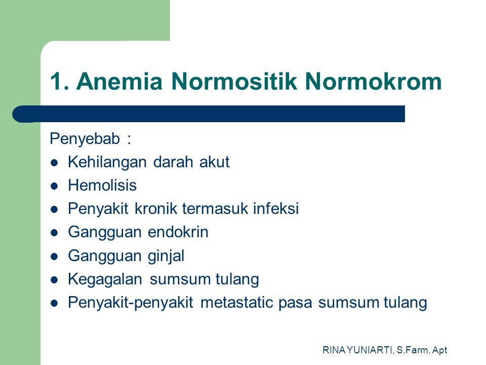 1. Anemia Normositik Normokrom
