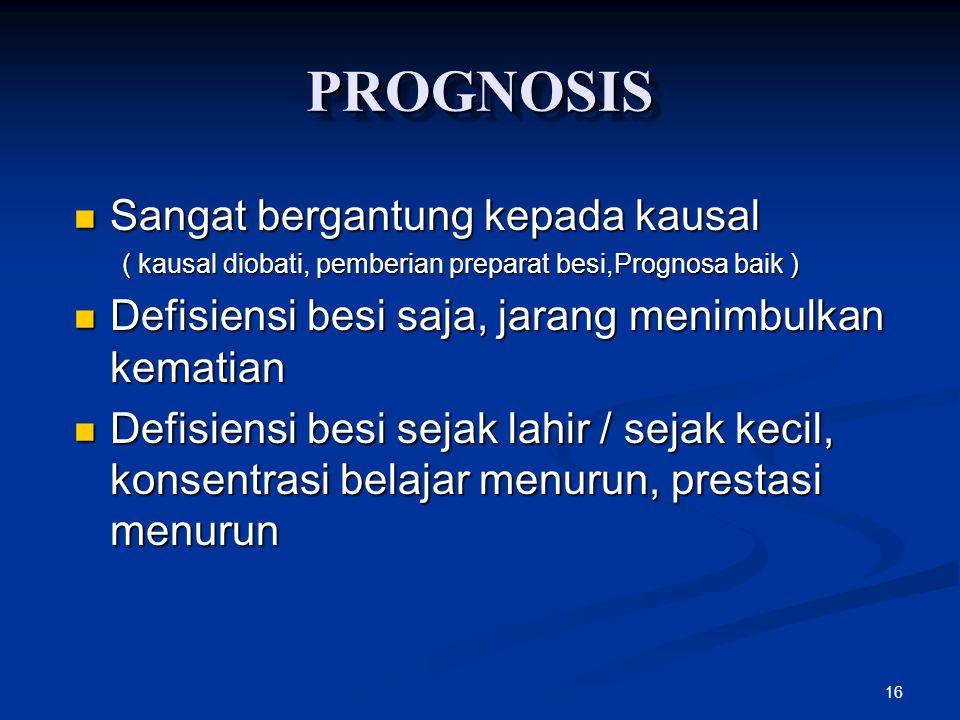 PROGNOSIS Sangat bergantung kepada kausal