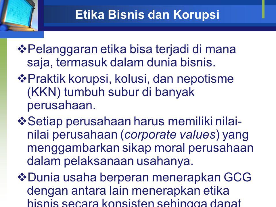 Etika Bisnis dan Korupsi