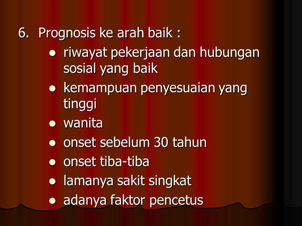 6. Prognosis ke arah baik :