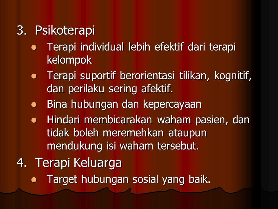 3. Psikoterapi 4. Terapi Keluarga