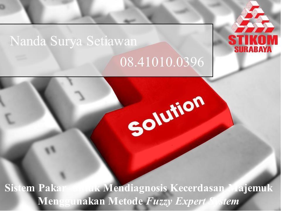 Nanda Surya Setiawan 08.41010.0396. Sistem Pakar untuk Mendiagnosis Kecerdasan Majemuk.