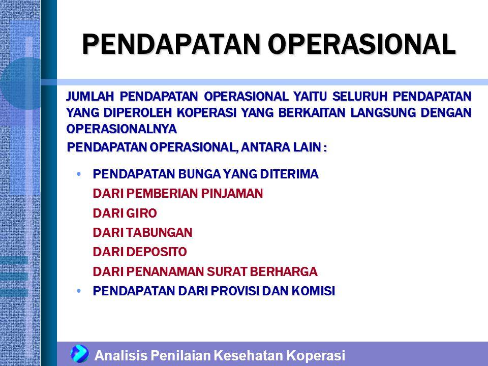 PENDAPATAN OPERASIONAL