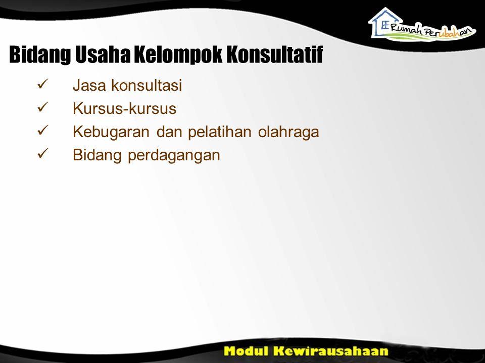 Bidang Usaha Kelompok Konsultatif