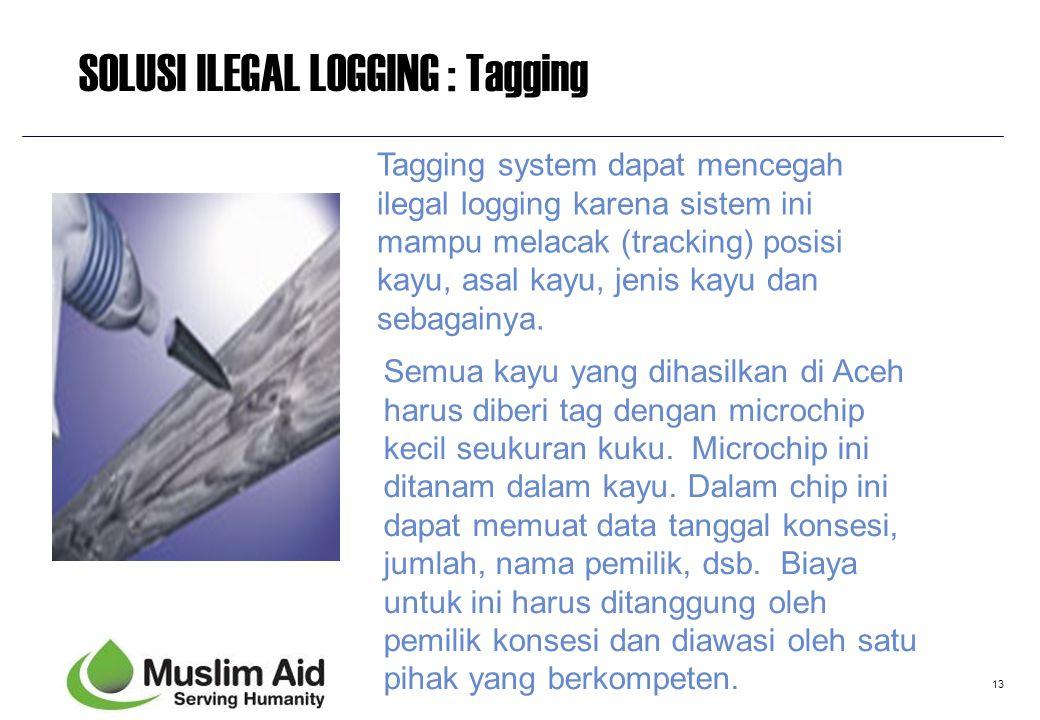 SOLUSI ILEGAL LOGGING : Tagging