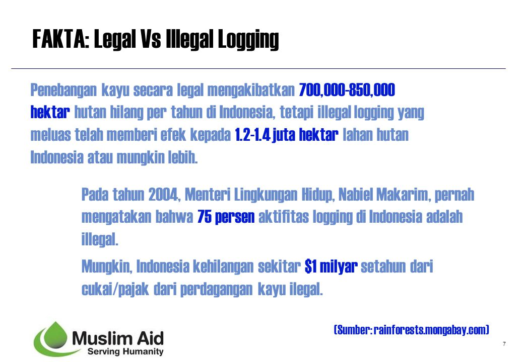 FAKTA: Legal Vs Illegal Logging